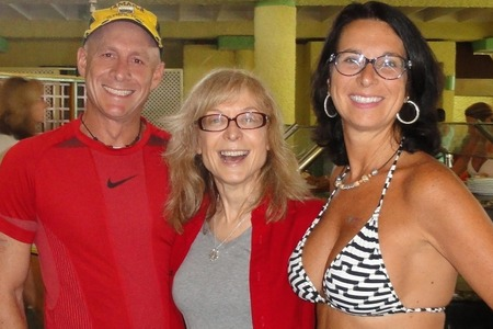Carol and David with Nina Hartley at Hedonism II