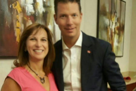 Carol with JT Foxx, Mega Speaker