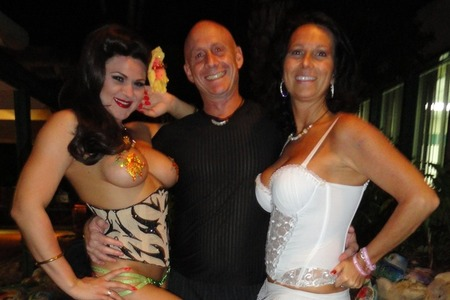 Carol and David with Roxi D'Lite at Hedonism II