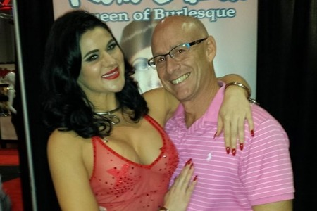 David with Roxi D'Lite, Queen of Burlesque