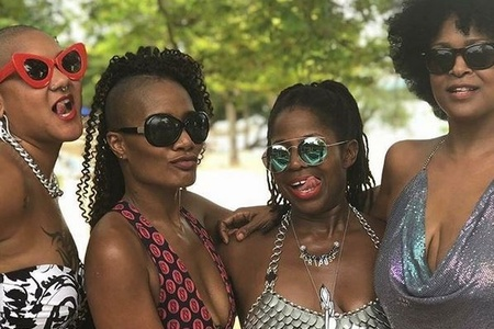 Marla Renee Stewart, Jet Setting Jasmine, Taylor Sparks and Parish Michelle Blair at Hedonism Resort, Negril Jamaica