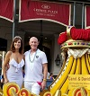 Carol and David Queen and King of Naughty in NAwlins on Sexual Freedom Parade Float 2018