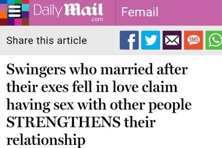 Daily Mail Article March 6, 2018 - Swingers Who Married...