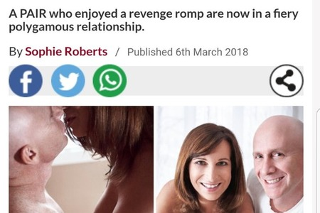 Daily Star Article March 6, 2018 - Swinger Couple