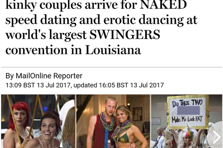 Daily Mail Article July 13, 2018 - Kinky couples...