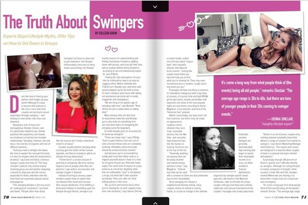 Sexual Health Magazine Article Jan 2018 - The Truth About Swingers